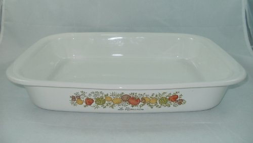 Coring Ware  inchSpice of Life inch (A-76) Large Open Roaster Lasagna Pan Casserole Baking Dish (14 x 11.5 x 2.25)