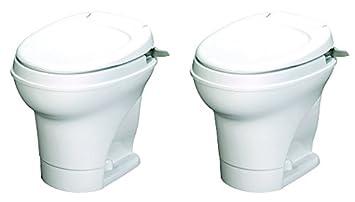 High Profile Aqua-Magic V RV Toilet Hand Flush White Thetford 31667