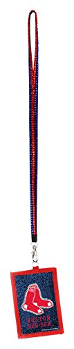 MLB Boston Red Sox Beaded Lanyard with Nylon Wallet ()