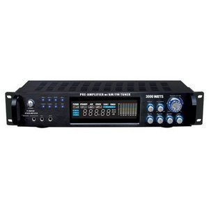 Pyle P3001AT 3000W Hybrid Pre Amplifier with AM/FM Tuner from Pyle