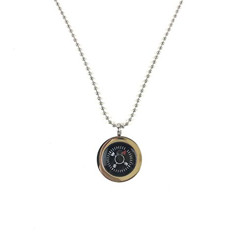 DETUCK(TM Navigation Compass Necklace Stylish Compass Gift for Your Family and Friends,Hikers,Campers etc. by DETUCK