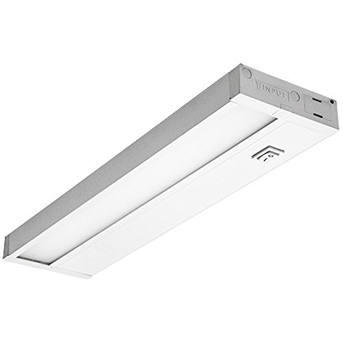(Dimmable Hardwired Under Cabinet LED Lighting, UL Listed, Edge lit Technology, Warm White(2700k), White Finished (22 Inch))