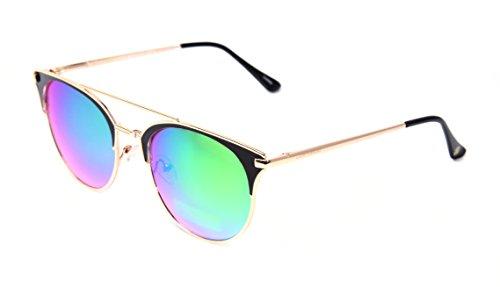 Lucky Women's Fairblg54 Cateye Sunglasses, Black/Gold, 54 - Fast Sunglasses Prescription