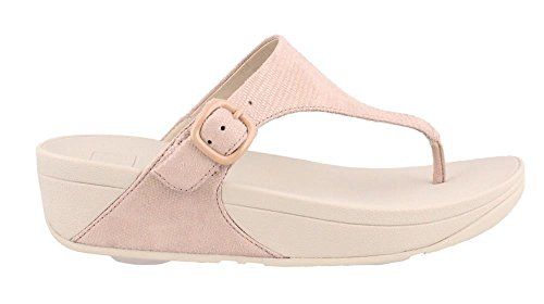 FitFlop Women's The Skinny Lizard-Print Toe-Post Sandals Nude Pink (Lizard Print Sandal)