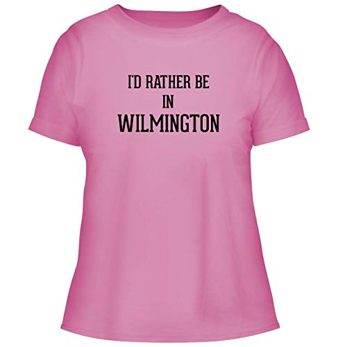 BH Cool Designs I'd Rather Be in Wilmington - Cute Women's Graphic Tee, Pink, X-Large