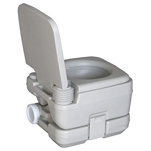 Mandycng Outdoor Camping Travel Toilet Flush Potty Van Truck Speed Boat Vehicle Emergency Instant Toilet 2.8 Gallons - Gallon Holding Tank 2.8