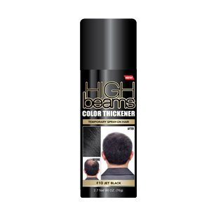 High Beams Color Thickener Temporary Spray-On Hair - Jet Black 2.7 oz by High Beams -