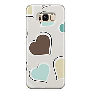 Samsung S8 Case Love Pattern Gift For Girls Sleek Durable Light Weight Samsung S8 Cover Wrap Around 118