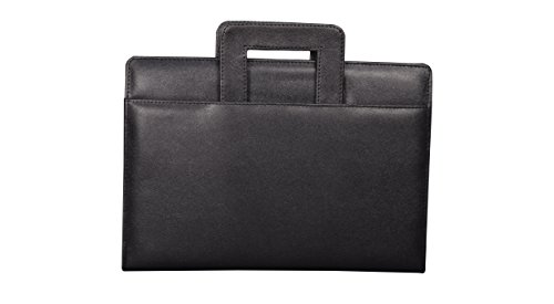 COI BLACK LEATHERITE BREIFCASE CONFERENCE FOLDER / DOCUMENT FOLDER