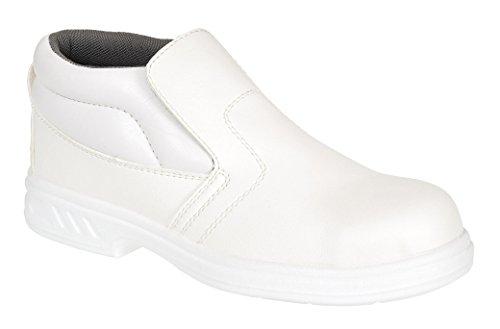 Portwest FW83 - Slip-On de seguridad 34/1 S2, color Negro, talla 34 Blanco