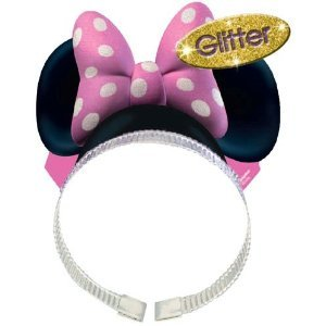 Minnie Mouse Party Hat - Minnie Mouse Ears w/ Bows (8 Pack)