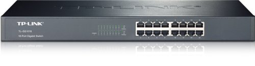 TP-Link 16-Port Gigabit Ethernet Unmanaged Switch | Plug and Play | Metal | Rackmount | Fanless | Limited Lifetime - Rackmount Switch Metal