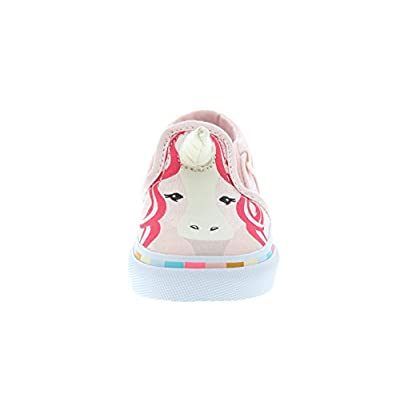 Vans Toddler Girls Asher V Pink Unicorn with Horn Sneakers: Shoes