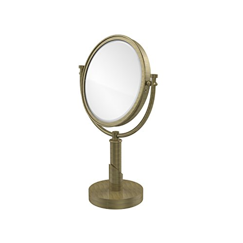 Allied Brass TR-4/3X-ABR Table Mirror with 3X Magnification, Antique Brass ()