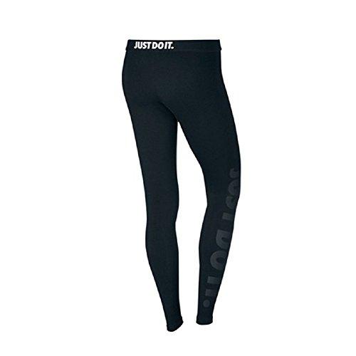 "Nike Womens Leg-A-See ""JUST DO IT"" Leggings Black/Black 826575-010 (Medium, Black/Black)"