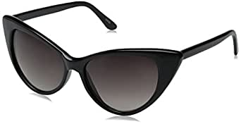 zeroUV Women's Zv-8371d Wayfarer Sunglasses, Black, 54 mm