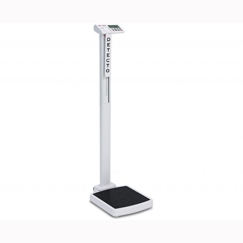 Detecto, Solo Digital Clinical Scale, Mechanical Height Rod, 550 lb x 0.2 lb / 250 kg x 0.1 -