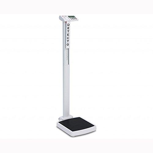 (Detecto, Solo Digital Clinical Scale, Mechanical Height Rod, 550 lb x 0.2 lb / 250 kg x 0.1 kg)