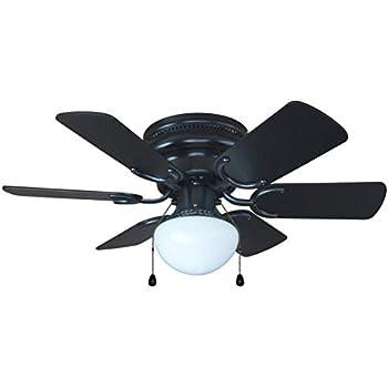 Hardware House 23 5389 Arcadia 30 Inch Black Flush Mount Ceiling Fan Black Or Light Maple Blades