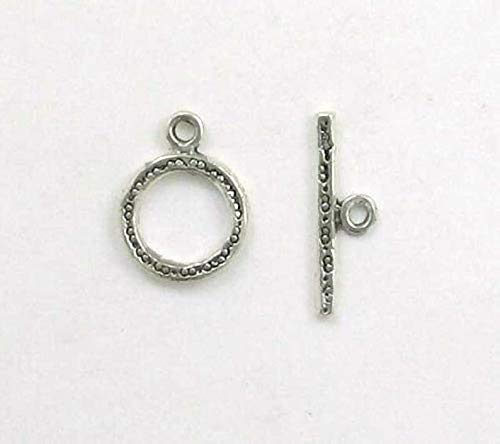 (Sterling Silver Spotted Toggle Clasp)