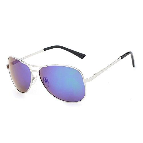 Conducción Clásico Gray Sol de Shopping Men Costume Sol green Gafas Gafas Go de Color polarizadas Silver UV400 de Metal Gafas de Easy Protección Designer Pilot de Nuevas Gun P1Axfxqw