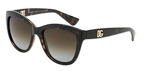 Dolce and Gabbana DG6087 502/T5 Tortoise Logo Execution Wayfarer Sunglasses - Dolce And Tortoise Gabbana Glasses