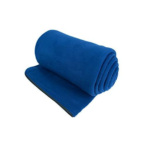 Osage River Microfiber Fleece Zippered Sleeping Bag Liner with Carry Storage Bag (Navy Blue Fleece Sleeping Bag Liner)