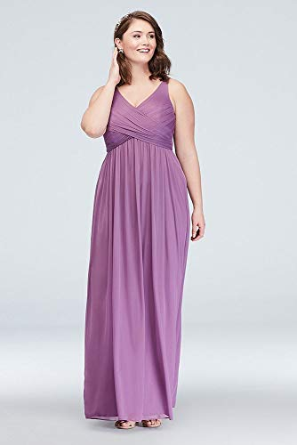 c5441706e98 Long Bridesmaid Dress with Mesh and Swooping Cowl Back Detail Style F15933