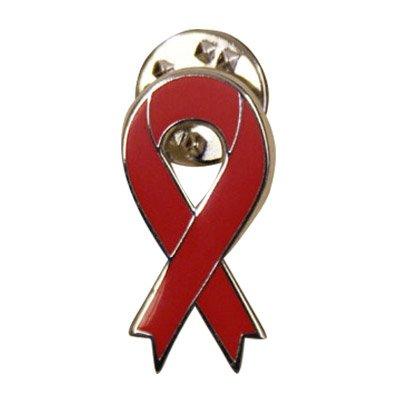 Red Awareness Ribbon Lapel Pin - American Heart Disease Awareness Month, Stroke Awareness, AIDS and HIV awareness. -