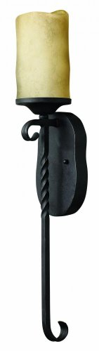 - Hinkley 4300OL Transitional One Light Wall Sconce from Casa collection in Blackfinish,