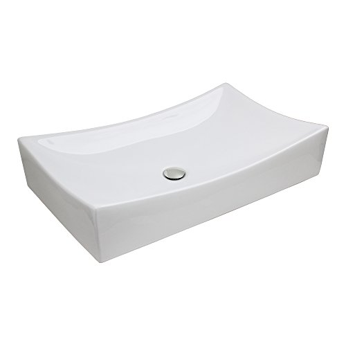 GotHobby Contemporary Faucet Bathroom Vessel Vanity Sink Basin & Chrome Popup Drain Combo
