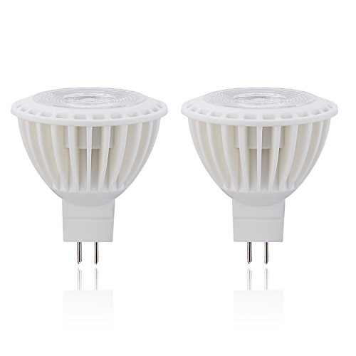 (2 Pack)Spotlight-listed 3W (40W Equivalent)LED Light Bulb 5000K Daylight, 270Lumens,38 Degree GU5.3 Base Spotlight bulb for Recessed, Accent, Track and Landscape Lighting, Not Dimmable - Sl Series Accent Table