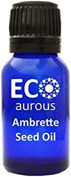 Ambrette Seed Oil (Abelmoschus Moschatus) 100% Natural, Organic, Vegan & Cruelty Free, Pure Essential Oil By Eco Aurous With Euro Dropper.(50 ml(1.69 oz))