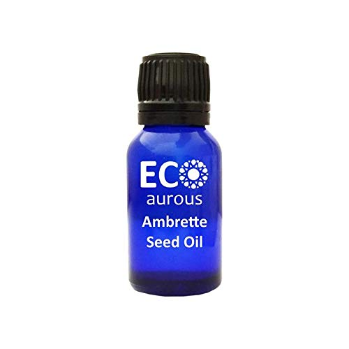 Ambrette Seed Oil (Abelmoschus Moschatus) 100% Natural, Organic, Vegan & Cruelty Free, Pure Essential Oil By Eco Aurous With Euro Dropper.(30 ml(1.01 oz))