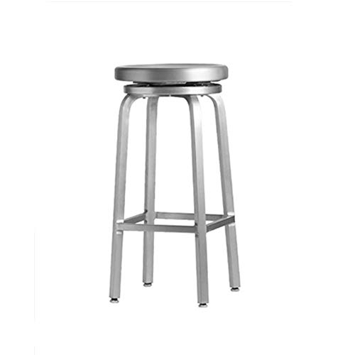 - Bar Chair Nordic Modern Simple Minilist Style Aluminum High Stool for Bar Restaurant Cafe Dessert Shop Backless Chair Living Room Kitchen Suitable for Bar Cafe Restaurant and Business