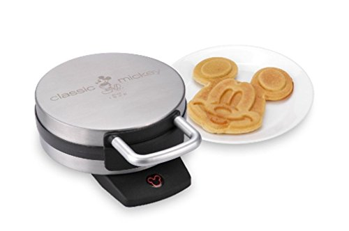 Classic Mickey Waffle Maker Brushed Stainless Steel