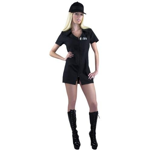 CSI Women's Crime Scene Investigation Adult Sexy Costume Black]()