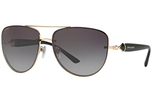 Bvlgari BV6086B 20148G Pink Gold BV6086B Aviator Sunglasses Lens Category 3 - Bvlgari Gold