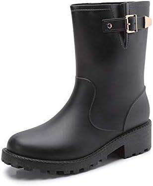 JHKJ Botines para Mujer, Botas de Lluvia Impermeables, Zapatos de jardín,Black,37=6.5: Amazon.es: Deportes y aire libre
