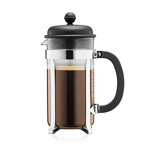 BODUM Cafeteria 8 Cup French Press Coffee Maker, Black, 1.0 l, 34 oz
