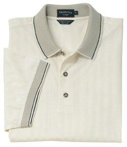 Monterey Club Mens Double Mercerized Short Sleeve Shirt #1019 (Ivory, Large) ()