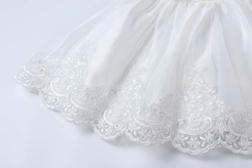 LZH Vestito da Ragazza per Bambina Abito da Battesimo da Principessa per Matrimoni Sposa Compleanno 5