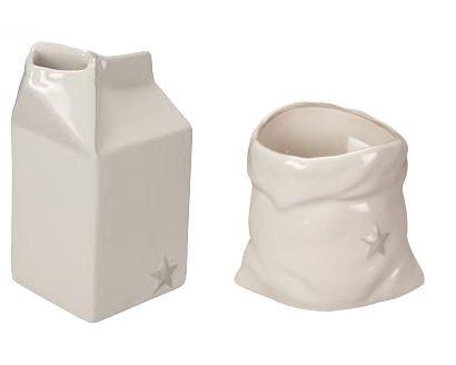 Word Expressions Sugar Sack & Milk Carton Creamer Set