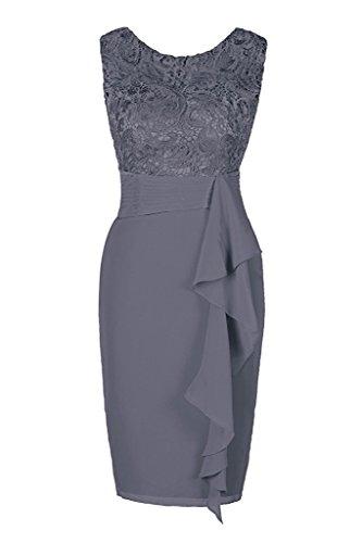 Judy Ellen Sleeveless Knee Length Sheath Evening Dress J080LF Dark Gray US14
