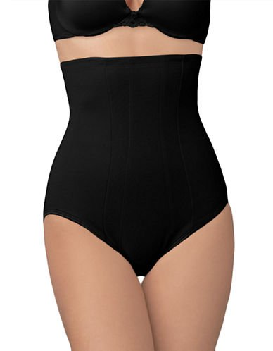 Miraclesuit Shapewear Women's Extra Firm Shape with an Edge Hi-Waist Brief, Black 3XL