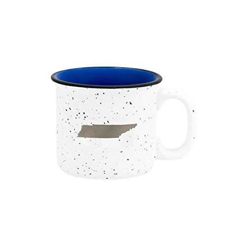 About Face Designs Tennessee Silver Foil State on White 13.5 oz. Ceramic Campfire Mug