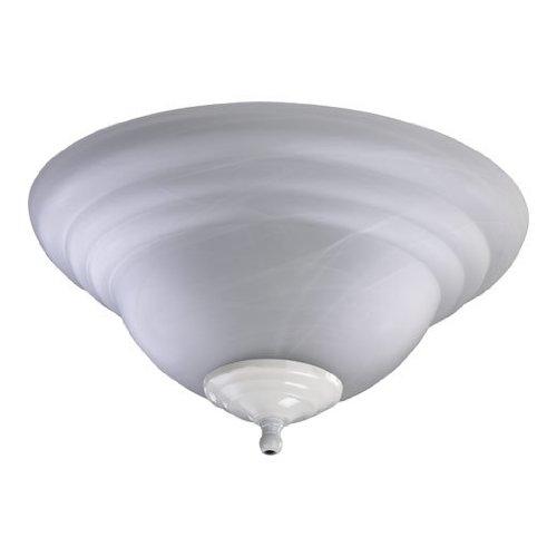 Quorum 1133-801, Faux Alabaster Glass Bowl Light Kit, White