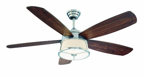 UPC 822920223785, Savoy House 52-252-5WA-SN 52-Inch San Remo Ceiling Fan, Satin Nickel Finish with Walnut Blades and Integrated White Frosted Glass Light