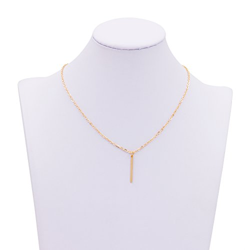 Zealmer Fashion Necklace Gold Tone Dangling