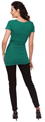 Zeta Ville - Camiseta Premamá T-shirt Tee Top Cuello Redondo - para mujer - 999c Verde Azulado